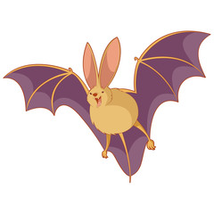 Cartoon happy bat