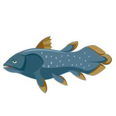 Cartoon blue Coelacanth
