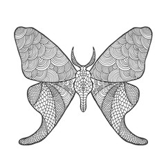 Zentangle stylized butterfly.