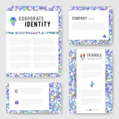 Colorful blue triangle Identity-2