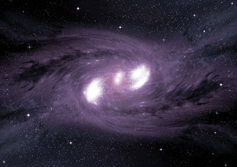 galaxy in a free space