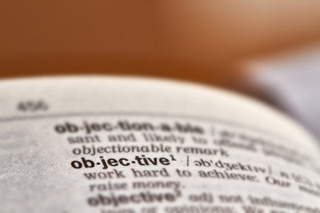 Objective Word Definition Text