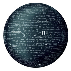 bal made of mathematical formulas