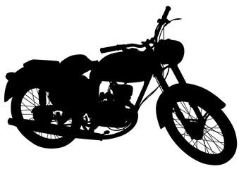 Poster Motorcycle Big motor bike on white background