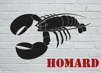 Street art, homard