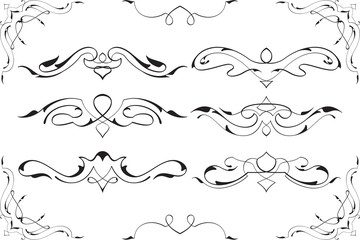 Baroque swirl elements art set