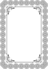 Great baroque greeting frame