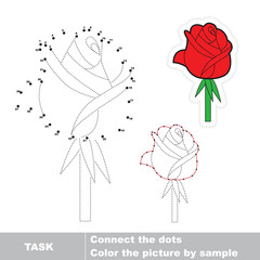 Rose to be traced. Vector numbers game.