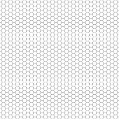 Seamless Pattern   Hexagonal   Grid   Black-and-White