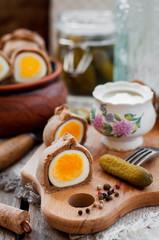 Kokurki, Rye Dough Wrapped Hard Boiled Eggs