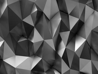 Metal BW Low-Poly Steel Background Wall mural