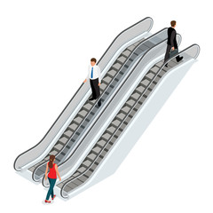Escalator image. Isometric Escalator illustration. Elevator JPG. Modern architecture stair, lift and elevator, Escalator. 3d Escalator. Flat 3d vector isometric illustration.