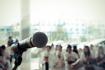 Microphone in concert hall or conference room