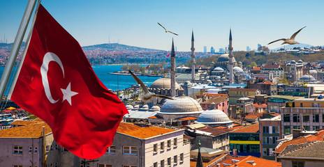 Printed kitchen splashbacks Turkey Istanbul the capital of Turkey, eastern tourist city.