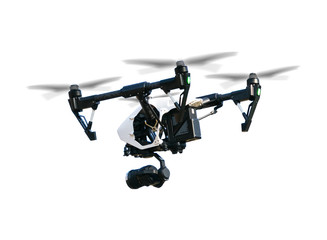 Drone isolated on white background Wall mural