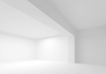 Empty white room interior. 3d illustration