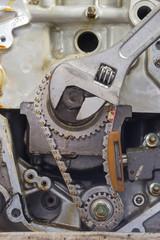 Car repair, prepare and checking car engine parts