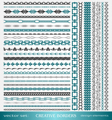 Creative Borders Design, calligraphic and geometric page decorations