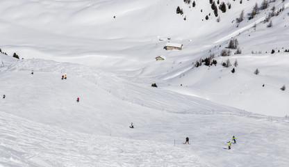 Baita sulle piste da sci