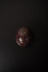 black galaxy eggs at black background