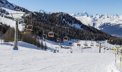 Seggiovia a Pila in Valle d'Aosta