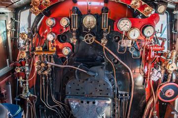 Dampflokomotive Lokführerstand