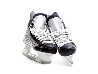 Closeup of A Pair of Ice Hockey Skates