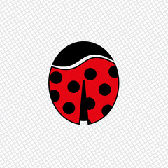Ladybug color icon. Idea for hairpin or magnet