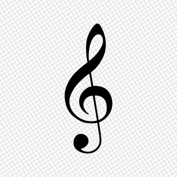 Simple icon of treble key