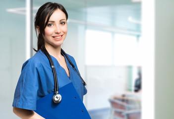 Friendly beautiful nurse