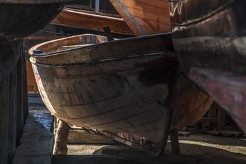 Barca in rimessaggio