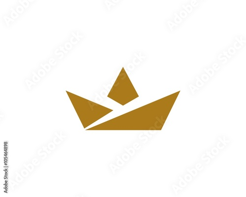 Simple Crown Origami Stock Image And Royalty Free Vector Files On