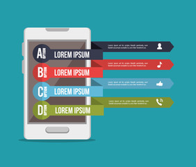 mobile infographic design