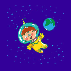 Space child cartoon