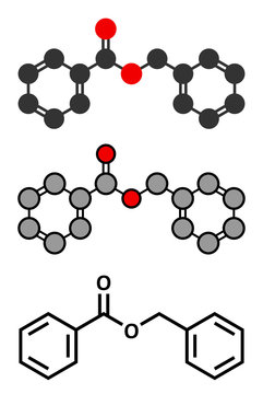 Benzyl benzoate drug molecule. Used as acaricide, scabicide, etc