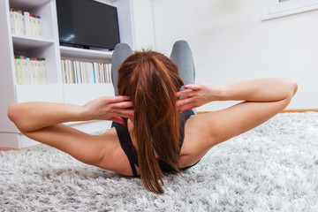 Fit Young Woman Exercising Healthy Lifestyle