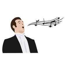 man singing opera