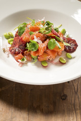 Smoked Trout and Endamame Salad