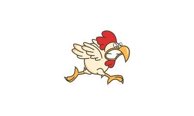 Chicken Angry Run Logo