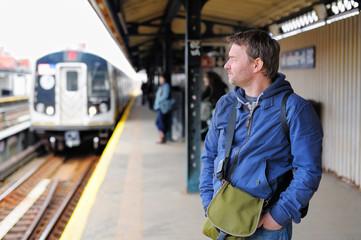 Passenger in NYC subway