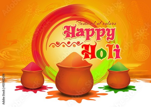 Pots with colorful gulaal powder color for festival of colors pots with colorful gulaal powder color for festival of colors happy holi happy m4hsunfo
