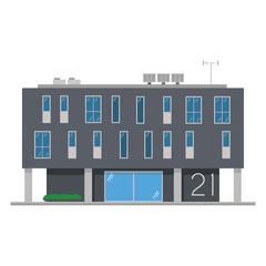 Cute cartoon vector illustration of a building