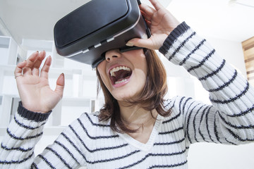 Women have to experience the virtual reality of the game