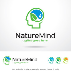 Nature Mind Logo Template Design Vector
