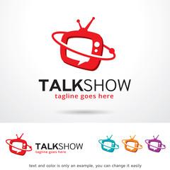 Talk Show Logo Template Design Vector
