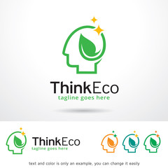 Think Eco Logo Template Design Vector