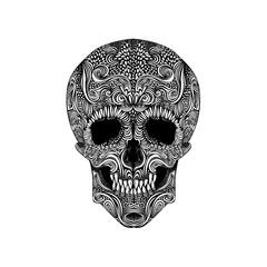 Black and White Tattoo Skull