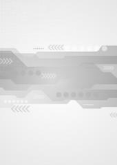 Hi-tech vector background with arrows