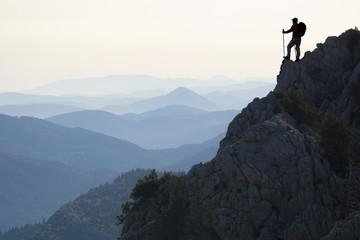 zirve başarısı & azimli ve kararlı dağcı