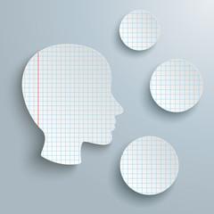Human Head Checked Paper 3 Circles